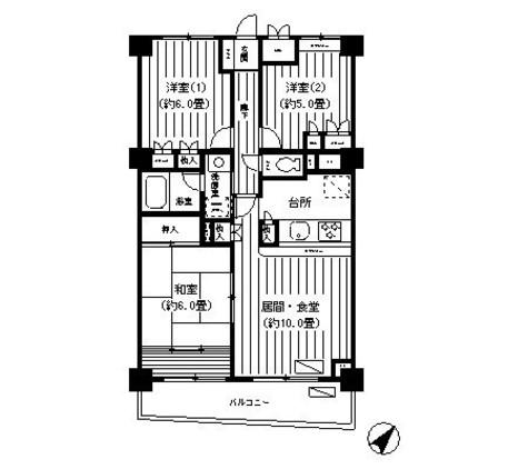 ガーデンコート洋光台 / 3階 部屋画像1