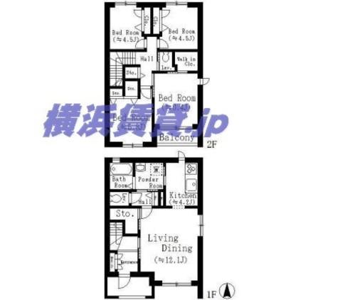 フィオーレ花水台 / 1階 部屋画像1