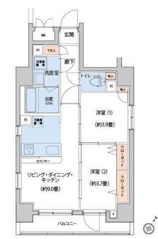 ゼクシア川崎 / 9階 部屋画像1