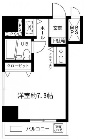 大井町プリンスハイツ / 3階 部屋画像1