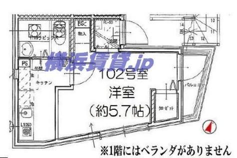 リーヴェルポート横浜南太田 / 2階 部屋画像1
