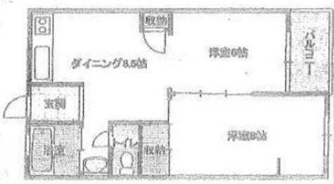高輪中央マンション / 5階 部屋画像1