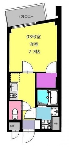 b'CASA Nakase(ビーカーサ中瀬) / 1階 部屋画像1