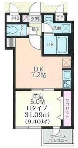 ウィステリア品川二葉 / 202 部屋画像1