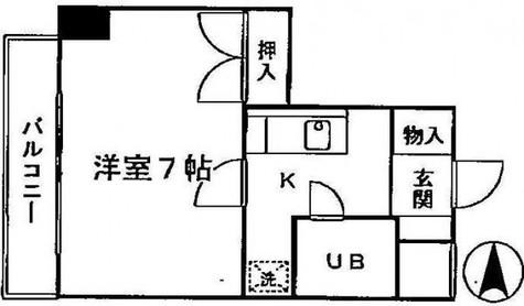 京王目黒マンション / 3階 部屋画像1