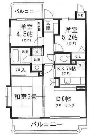 サンガーデン片倉 / 3階 部屋画像1