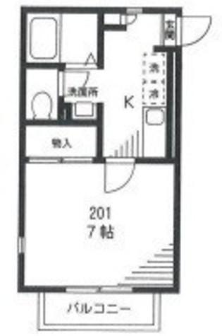西大口デザインコートⅢ / 201 部屋画像1
