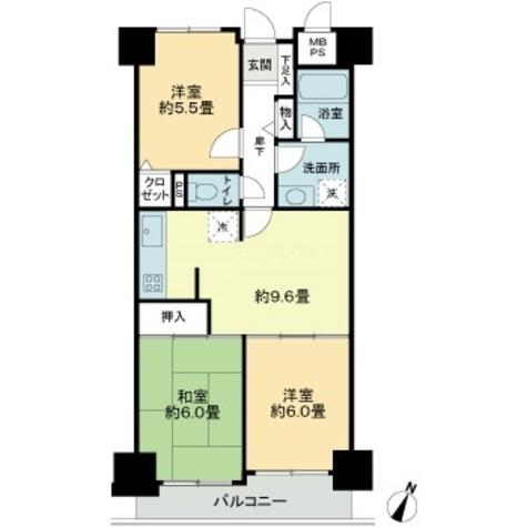 朝日広尾マンション / 13階 部屋画像1