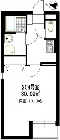 b'CASA Tsuzuki(ビーカーサ都筑) / 2階 部屋画像1