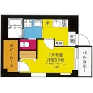 b'CASA Yokohama Higashi / 101 部屋画像1