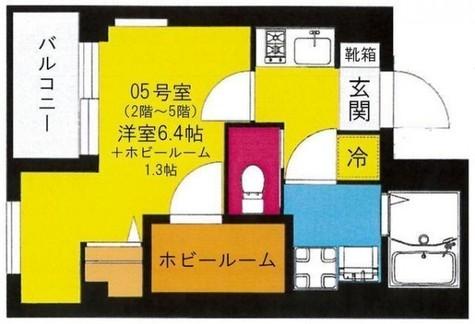 b'CASA Yokohama Higashi / 2階 部屋画像1