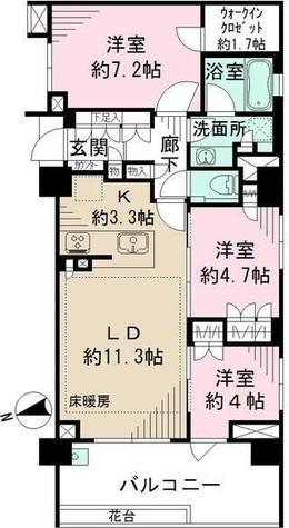 ザ・パークハウス 四谷若葉レジデンス / 2階 部屋画像1