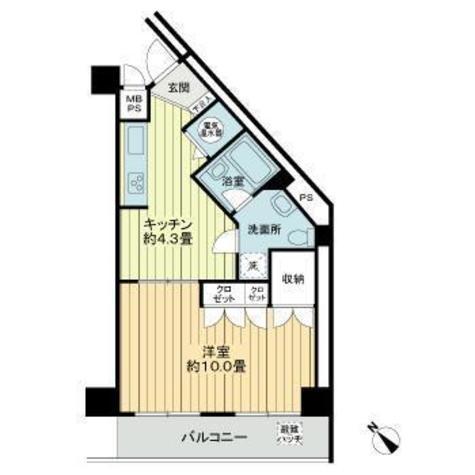 ライオンズガーデン池田山 / 2階 部屋画像1