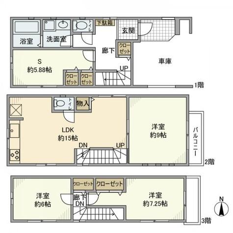 大田区中央8丁目戸建 / 1階 部屋画像1