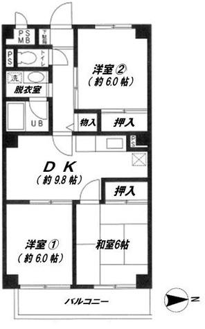 KDX武蔵中原レジデンス / 2階 部屋画像1
