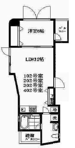 目黒 7分マンション / 4階 部屋画像1