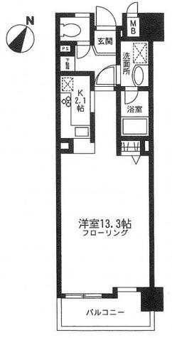 ユニーブル田町 / 4階 部屋画像1