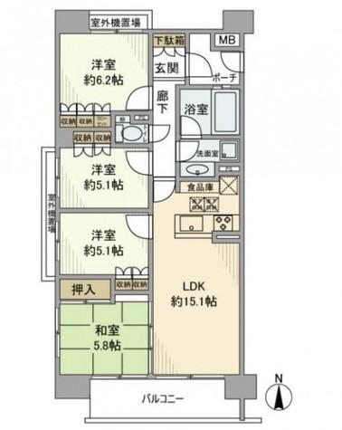 グランイーグル蒲田ネオスト / 2階 部屋画像1