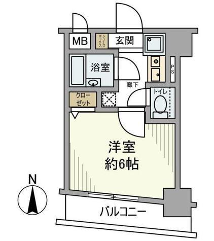 蒲田 4分マンション / 6階 部屋画像1