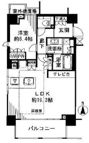パークハウス麻布十番アーバンス / 5階 部屋画像1