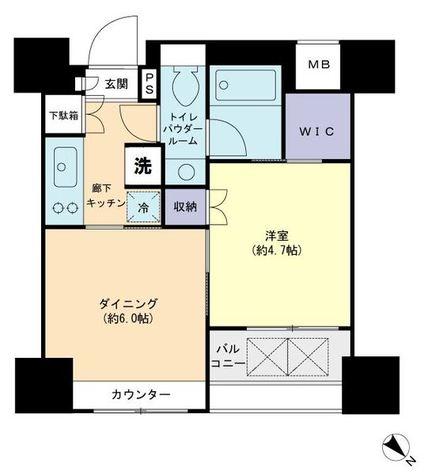 パークリュクス銀座mono / 5階 部屋画像1