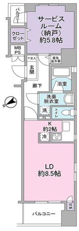 東急ドエル・グラフィオ大森 / 5階 部屋画像1