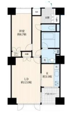 六本木 7分マンション / 2階 部屋画像1