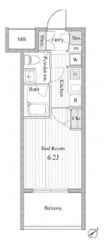 シーフォレシティ芝浦(旧フォレシティ芝浦) / 7階 部屋画像1