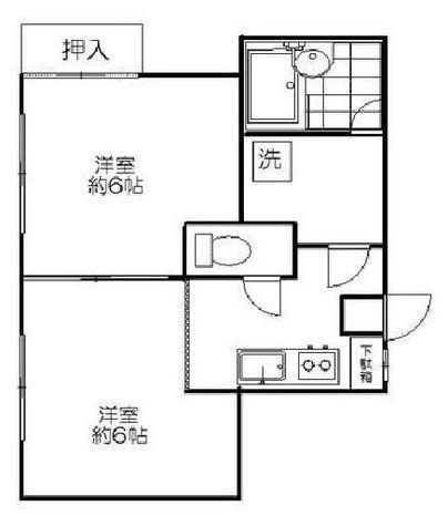 シノザキビル / 302 部屋画像1