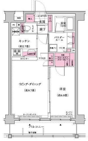 エクセレントスクエア宮崎台Ⅰ / 4階 部屋画像1