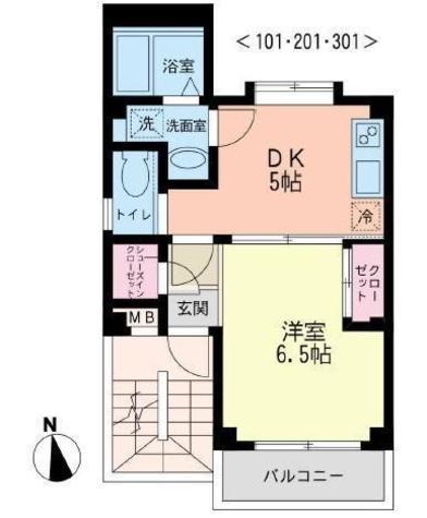 カーサコンフォルト / 2階 部屋画像1