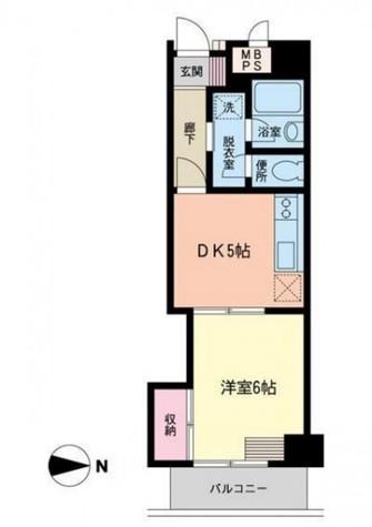 朝日高輪マンション / 5階 部屋画像1