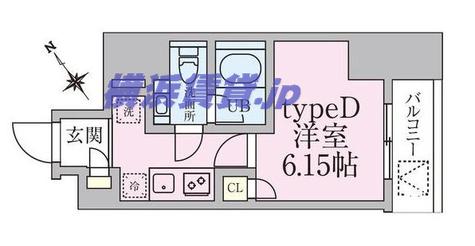 新横浜 10分マンション / 3階 部屋画像1