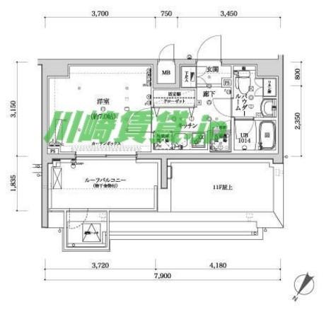 スパシエフェリーチェ川崎 / 1204 部屋画像1