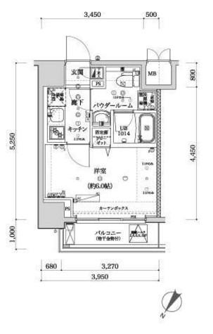 スパシエフェリーチェ川崎 / 9階 部屋画像1