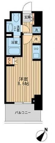 レジディア川崎 / 3階 部屋画像1