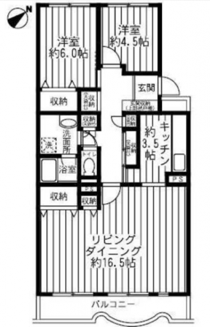テレパレス日限山 / 1階 部屋画像1