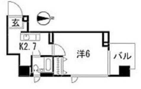 キャッスル南品川 / 3階 部屋画像1