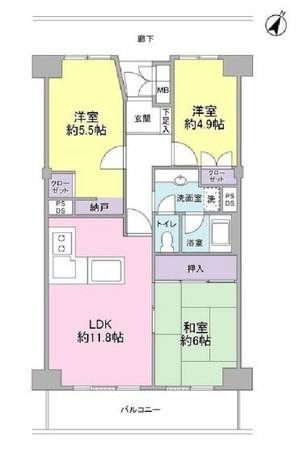 横浜パークタウンF棟 / 713 部屋画像1