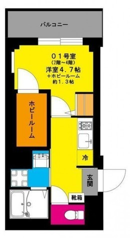 b'CASA yamashitacho (ビーカーサ山下町) / 2階 部屋画像1