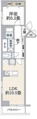 トーカン白金キャステール / 5階 部屋画像1