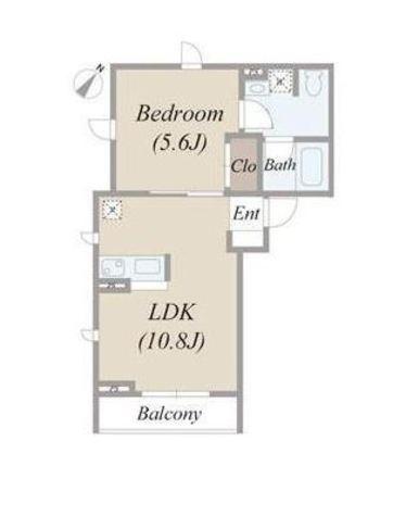 油面パークビレッジD棟 / 1階 部屋画像1