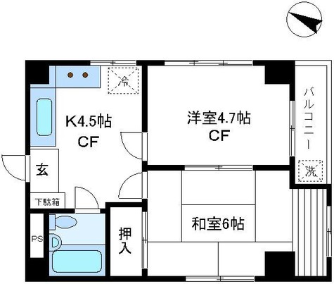 日興ロイヤルパレス壱番町第2 / 2階 部屋画像1
