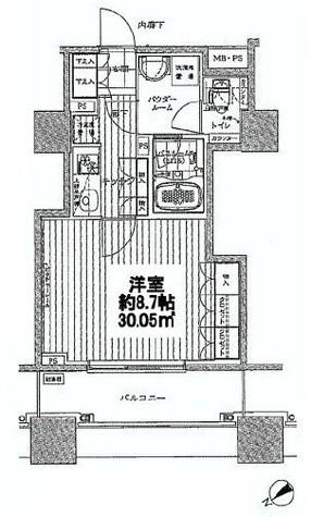 シティタワー横濱(シティタワー横浜) / 4階 部屋画像1