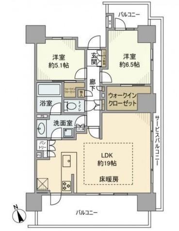 クレヴィアタワー目黒不動前 / 21階 部屋画像1