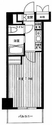 グランシャルム川崎 / 510 部屋画像1