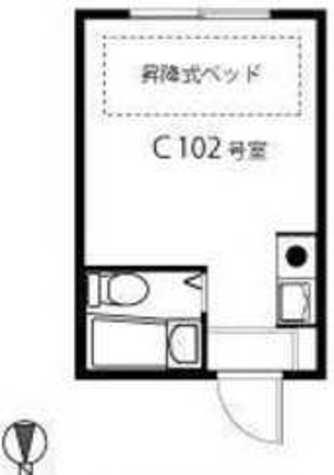 目黒トウエイハイツ / 1階 部屋画像1
