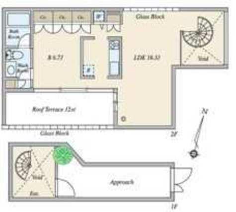 月光町アパートメント / 1階 部屋画像1