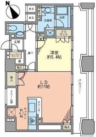 ルネ新宿御苑タワー / 18階 部屋画像1