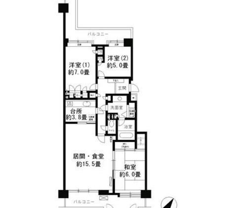 パークシティ本牧F棟 / 6階 部屋画像1